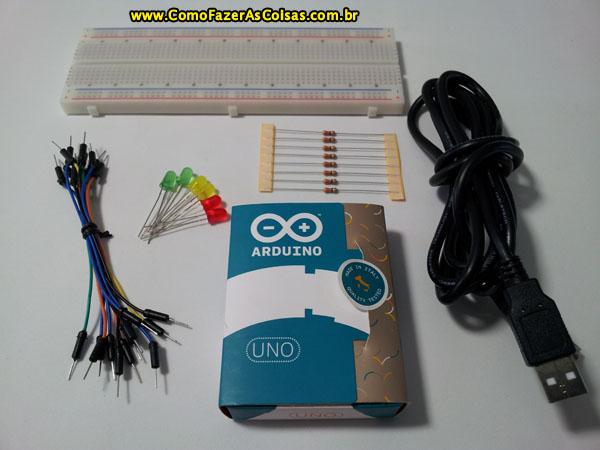 Arduino projeto dois sinais de tr nsito sincronizados