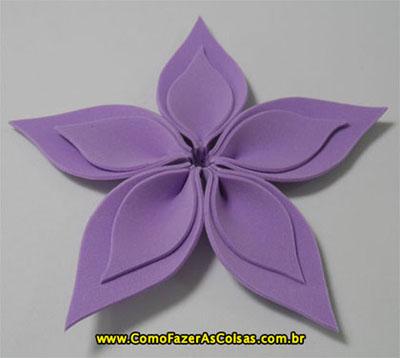 Como Fazer Uma Flor De Eva De Cinco Pétalas Artesanato Bonito E Fácil