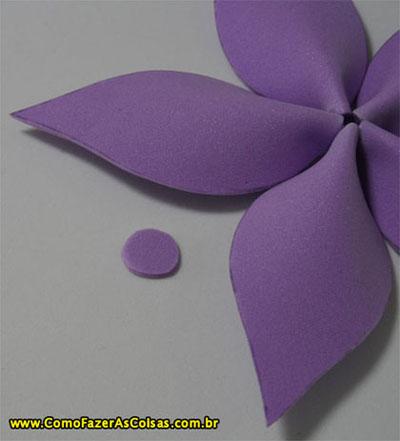 Flor de eva com acabamento.