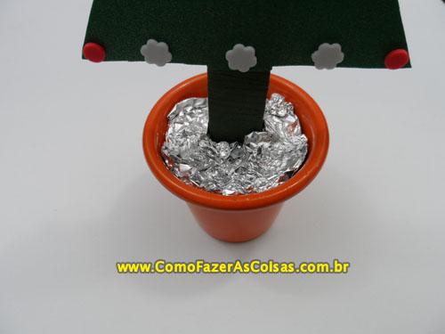 Árvore de natal de eva no vasinho