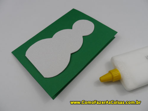 Cartão de natal do boneco de neve 03.