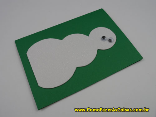Cartão de natal do boneco de neve 04.