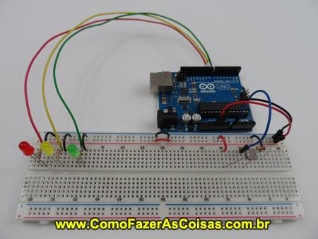 modul praktrek untuk menyalakan lampu LED