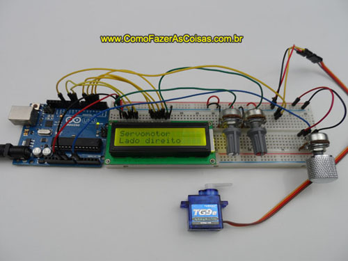Arduino servomotor e display