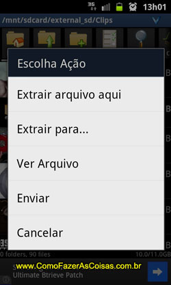 Compactando arquivo no Android 08