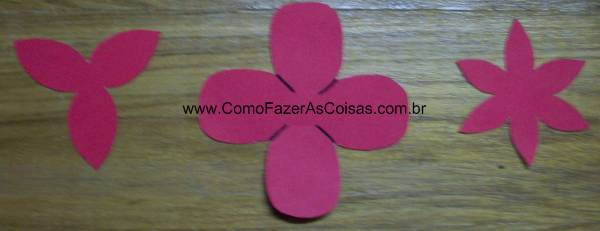 Flor ou rosa de e.v.a - moldes