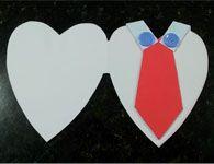 Cart�o Artesanal de cora��o para o Dia dos Pais