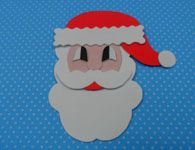 Como fazer o Papai Noel de eva. Artesanato de Natal