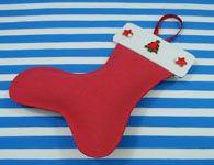 Como fazer a meia para o Papai Noel colocar seu presente de Natal