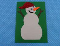 Como fazer o cart�o de natal do boneco de neve