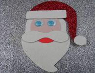 Como fazer o Papai Noel de eva com gliter