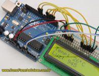 Projeto Arduino com display LCD, sensor de temperatura e sensor de luminosidade.