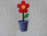 Linda lembrancinha de florzinha para o dia das m�es. Muito f�cil de fazer!