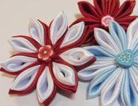 Como fazer Flores Kansashi de fita de cetim
