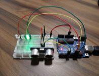 Arduino com sensor de obst�culos ultras�nico HC-SRO4